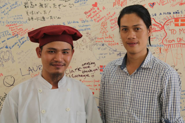 Chef Vu and the owner of Cyclo Resto