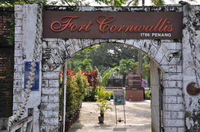 Entrance to Fort Cornwallis