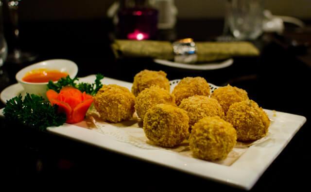 Fried Crab Meat Balls at Tsing Tao