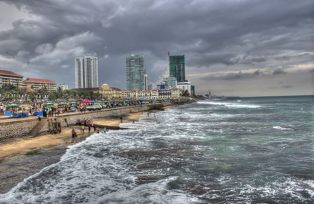 Galle Face Green on weekend