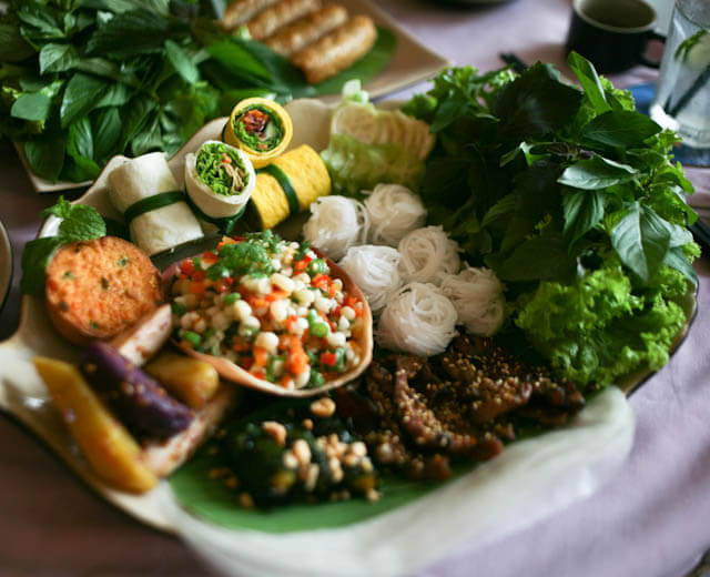 Hao Tuc Platter with Spring Rolls and other Vietnamese starters
