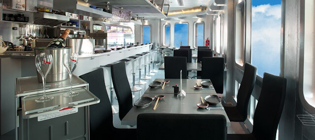 Interiors of Sushi Airways resembels a D-7 aircraft