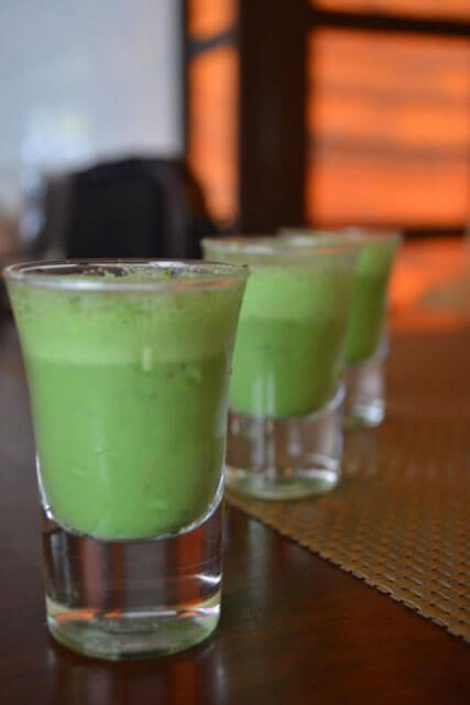 Paan Shot is a delight at the end of meal at Punjab Grill