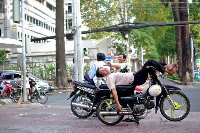 Relaxing Xe Om driver