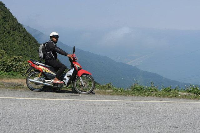 Riding Honda Wave in Da Nang