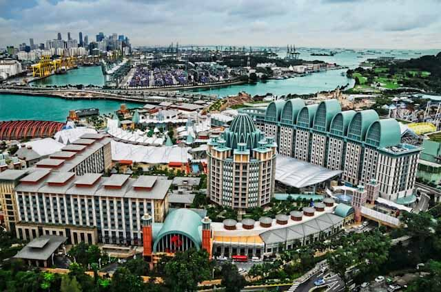 Sentosa view from Tiger Sky Tower