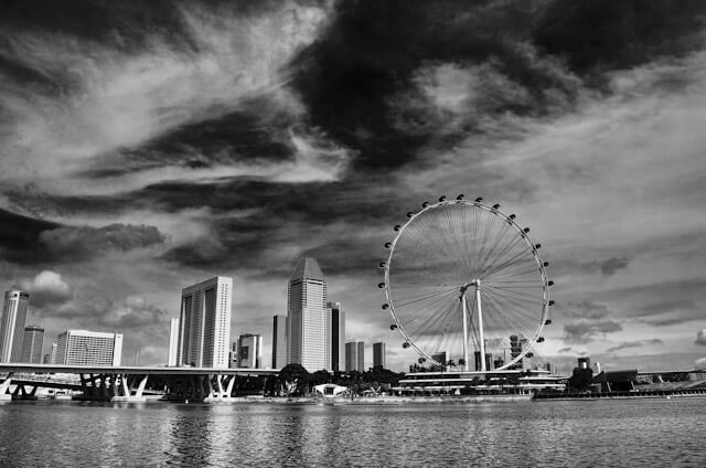 Singapore Flyer in Black & White