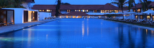 The Olympic sized swimming pool and rooms on either sides