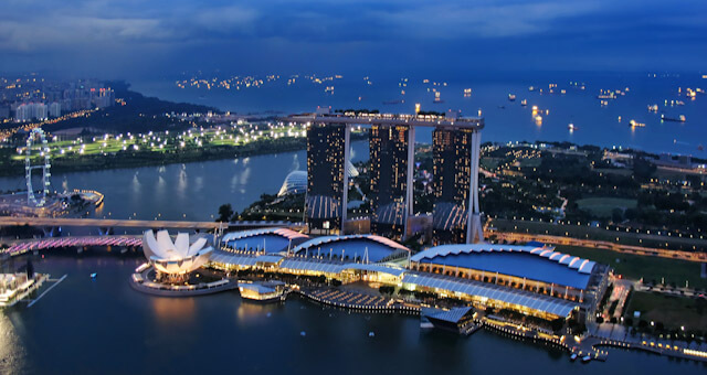View of Marina Bay Sands from 1 Altitude